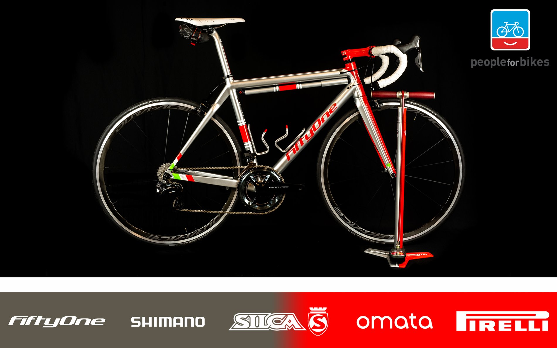 FiftyOne, Silca, Shimano, Omata and Pirelli: A Special Felice Sacchi Homage People for Bikes Raffle