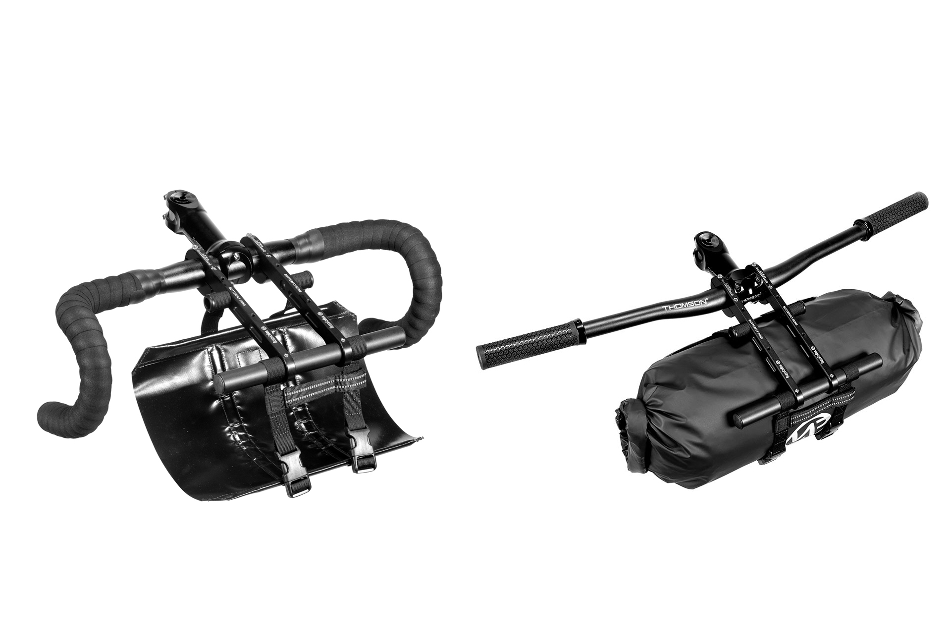 Vapcycling's Unique Butterfly Guns Handlebar Bikepacking Bag Harness
